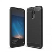 Θήκη Σιλικόνης TPU Carbon Fiber Brushed για Huawei Mate 10 Lite / Νova 2i / Maimang 6 - Μαύρο