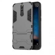 Cool Guard Plastic TPU Back Phone Casing with Kickstand for Huawei Mate 10 Lite / nova 2i / Maimang 6 - Grey