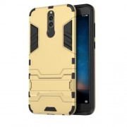 Cool Guard Plastic TPU Back Phone Casing Cover with Kickstand for Huawei Mate 10 Lite / nova 2i / Maimang 6 - Gold