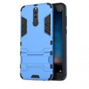 Cool Guard Plastic TPU Back Phone Accessory Case with Kickstand for Huawei Mate 10 Lite / nova 2i / Maimang 6 - Baby Blue