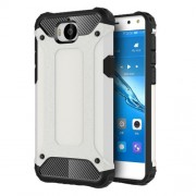 Armor Guard Plastic + TPU Hybrid Shell Case for Huawei Y5 (2017) / Y6 (2017) - White