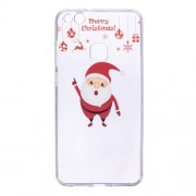 Christmas Pattern Printing Gel TPU Cover for Huawei P10 Lite - Merry Christmas and Santa