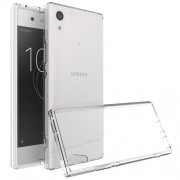 For Sony Xperia XA1 Plus Clear TPU Case Cover with Non-slip Inner - Transparent