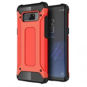 Armor Guard Plastic + TPU Hybrid Mobile Phone Shell for Samsung Galaxy Note 8 - Red