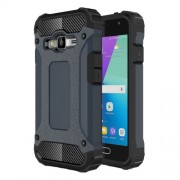 Armor Guard Plastic + TPU Hybrid Cover Shell for Samsung Galaxy J1 mini prime - Dark Blue