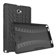 Υβριδική Θήκη Συνδυασμού Σιλικόνης TPU και Πλαστικού για Samsung Galaxy Tab A 10.1 (2016) S Pen P580 / P585 - Μαύρο