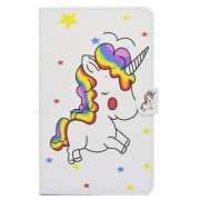 Pattern Printing Leather Case with Stand for Samsung Galaxy Tab A 10.1 (2016) T580 T585 - Unicorn