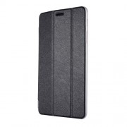 Silk Texture Tri-fold Stand Leather Case for Samsung Galaxy Tab A 8.0 (2017) T380 T385 - Black