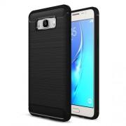 Θήκη Σιλικόνης TPU Carbon Fiber Brushed για Samsung Galaxy J7 (2016) SM-J710 - Μαύρο
