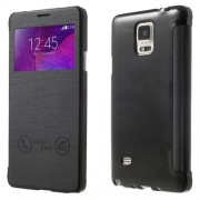 Δερμάτινη Θήκη Βιβλίο Smart Cover για Samsung Galaxy Note 4 N910 N910 - Μαύρο