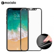 MOCOLO Soft Edge Full Coverage Tempered Glass Screen Protector for iPhone X - Black