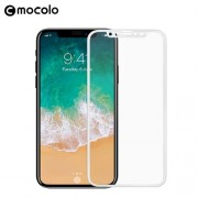 MOCOLO Soft Edge Full Coverage Tempered Glass Screen Protector Guard Film for iPhone X - White