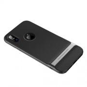 ROCK Royce Series Θήκη Σιλικόνης TPU σε Συνδυασμό με Πλαστικό για iPhone X - Γκρι / Μαύρο