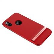 ROCK Royce Series Θήκη Σιλικόνης TPU σε Συνδυασμό με Πλαστικό για iPhone X - Κόκκινο / Ροζ