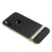 ROCK Royce Series Θήκη Σιλικόνης TPU σε Συνδυασμό με Πλαστικό για iPhone X - Χρυσαφί / Μαύρο