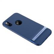 ROCK Royce Series Θήκη Σιλικόνης TPU σε Συνδυασμό με Πλαστικό για iPhone X - Γαλάζιο / Μπλε Σκούρο