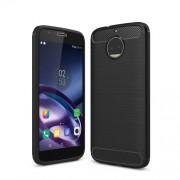 Θήκη Σιλικόνης TPU Carbon Fiber Brushed για Motorola Moto G5S Plus - Μαύρο