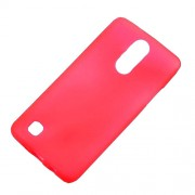Matte Skin TPU Gel Case Accessory for LG K4 (2017) EU/US Version - Red