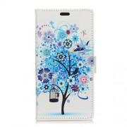 Δερμάτινη Θήκη Πορτοφόλι με Βάση Στήριξης για Xiaomi Redmi Note 5A Prime / Y1 - Μπλε Δέντρο