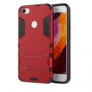 Υβριδική Θήκη Συνδυασμού Σιλικόνης TPU και Πλαστικού με Βάση Στήριξης για Xiaomi Redmi Note 5A Prime / Y1 - Κόκκινο