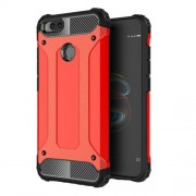 Armor Guard Plastic + TPU Hybrid Case Shell for Xiaomi Mi A1 / 5X - Red