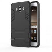 Υβριδική Θήκη Συνδυασμού Σιλικόνης TPU και Πλαστικού με Βάση Στήριξης για Huawei Mate 10 - Μαύρο