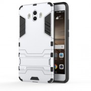 Cool Guard Plastic TPU Hybrid Cover for Huawei Mate 10 - Silver