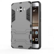 Υβριδική Θήκη Συνδυασμού Σιλικόνης TPU και Πλαστικού με Βάση Στήριξης για Huawei Mate 10 - Γκρι
