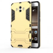 Cool Guard Hybrid Plastic TPU Phone Cover for Huawei Mate 10 - Gold