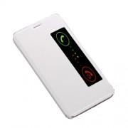 Δερμάτινη Θήκη Βιβλίο Smart Cover με Βάση Στήριξης για Huawei Mate 10 - Λευκό