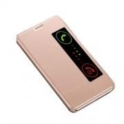 Δερμάτινη Θήκη Βιβλίο Smart Cover με Βάση Στήριξης για Huawei Mate 10 - Χρυσαφί