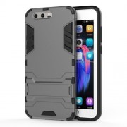 Cool Guard Plastic TPU Kickstand Hybrid Case Accessory for Huawei Honor 9 - Grey