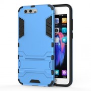 Cool Guard Plastic TPU Cell Phone Protective Case with Kickstand for Huawei Honor 9 - Baby Blue