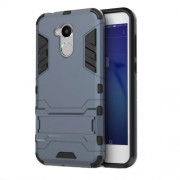 Cool Guard Plastic TPU Back Phone Casing with Kickstand for Huawei Honor 6A - Dark Blue