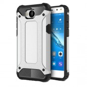 Armor Guard Plastic + TPU Combo Case for Huawei Y5 (2017) / Y6 (2017) - Silver