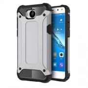 Armor Guard Plastic + TPU Hybrid Phone Case for Huawei Y5 (2017) / Y6 (2017) - Grey