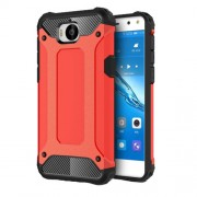 Armor Guard Plastic + TPU Hybrid Phone Casing for Huawei Y5 (2017) / Y6 (2017) - Red