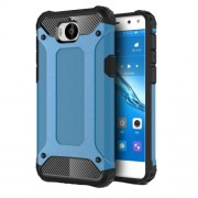 Armor Guard Plastic + TPU Hybrid Cell Phone Case Accessory for Huawei Y5 (2017) / Y6 (2017) - Baby Blue