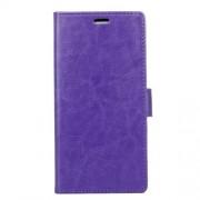 Δερμάτινη Θήκη Πορτοφόλι με Βάση Στήριξης για Sony Xperia L1 - Μωβ