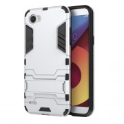 Shockproof PC + TPU Hybrid Kickstand Phone Cover for LG Q6 / Q6 Plus - White