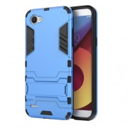 Shockproof PC + TPU Hybrid Kickstand Back Case for LG Q6 / Q6 Plus - Baby Blue