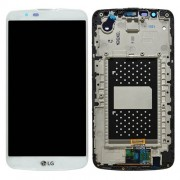 Original LG LCD Screen and Digitizer Assembly for LG K10 K420N - White (ACQ88868303)