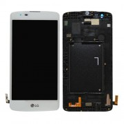 Original LG LCD Screen and Digitizer Assembly for LG K8 K350N - White (ACQ88830202, ACQ88830204)