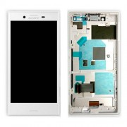 Original LCD Assembly with Touch Screen Digitizer for Sony Xperia X Compact F5321 - White (1304-1871)