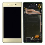 Original LCD Assembly with Touch Screen Digitizer for Sony Xperia X F5121 / X Dual F5122 - Gold Lime (1302-4798)