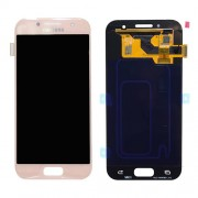 Original Samsung LCD + Digitizer Touch Screen for Samsung Galaxy A3 (2017) SM-A320F - Pink (GH97-19732D)