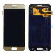Original Samsung LCD + Digitizer Touch Screen for Samsung Galaxy A3 (2017) SM-A320F - Gold (GH97-19732B)