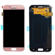 Original Samsung LCD + Digitizer Touch Screen for Samsung Galaxy A5 (2017) SM-A520F - Pink (GH97-19733D)