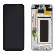 Original Samsung LCD and Digitizer Touch Screen for Samsung Galaxy S8+ G955 - Silver (GH97-20470B)