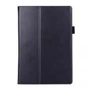 Litchi Texture 2-fold Stand Leather Cover for Lenovo TAB 2 A10-70 - Black